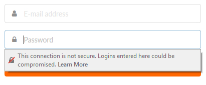 Firefox https warning