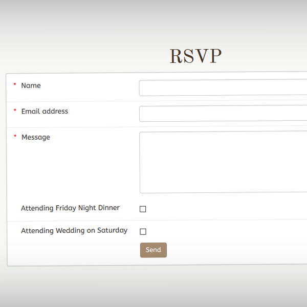 Users can RSVP directly via the website