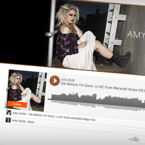 Embedded SoundCloud player to showcase Amy's tracks