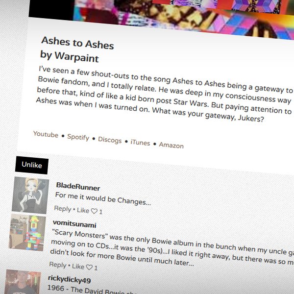 The wall where selections from people you are following can be played, liked and commented on