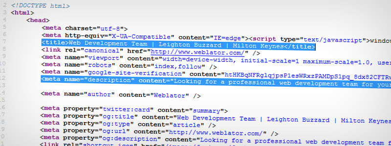 Understanding title tags and meta descriptions